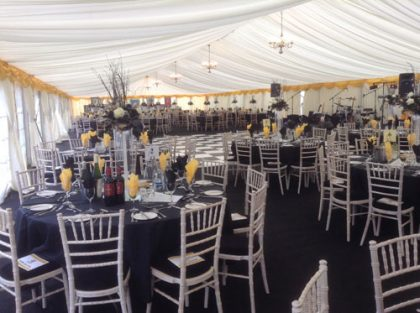 12m x 30m marquee to accommodate 250 people seated