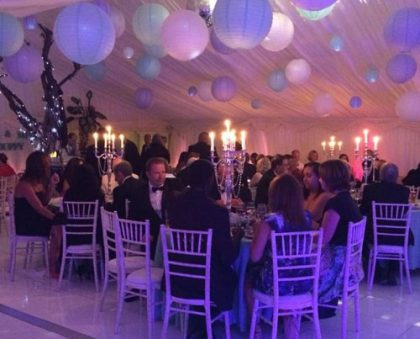 Fantastic use of light in this 12m x 15m marquee