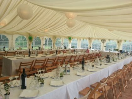 9m x 18m country style wedding