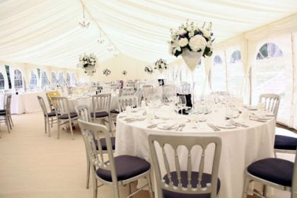 Beautiful 9m x 21m marquee for a summer wedding