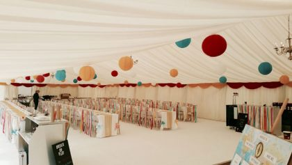 Vibrant coloured lanterns really dazzled the guests at this wedding