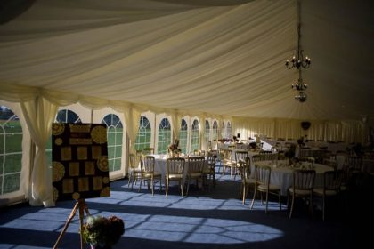Tudor themed winter wedding in this 9mx18m marquee seating 90