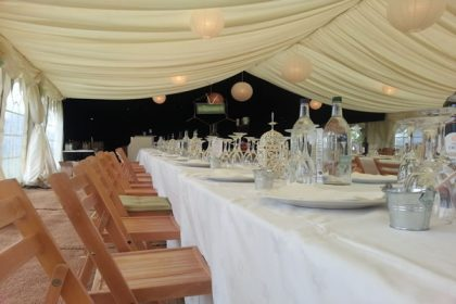 Wedding in Berkshire showing our new wooden folding chair