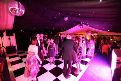 School ball showing how starlight lining over the dance floor works incredibly well