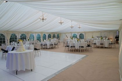 12mx24m marquee seating 280 people
