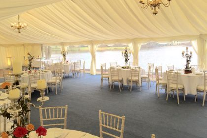 Monaco Marquees are the preferred supplier at Silvermere in Surrey