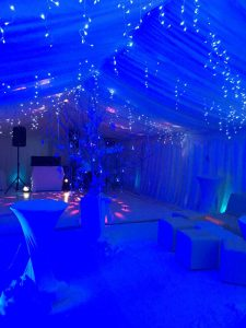 Stunning winter wonderland for a 21st Birthday in Surrey