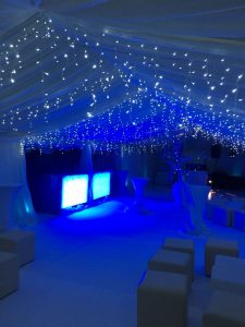 This customer used their own fairy lights to help create a winter wonderland theme