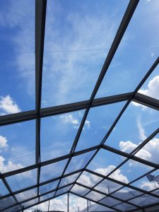 We can supply clear roof panels for the whole marquee or just part if preferred