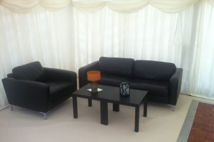 Lounge chill out area for a 40th Birthday in Surrey