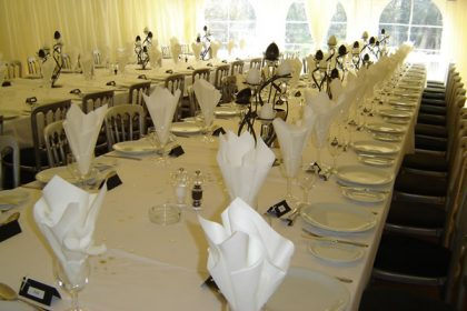 Banquet style seating for a 21st Birthday party in Surrey
