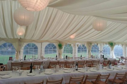 Great external shot of a 12mx21m marquee