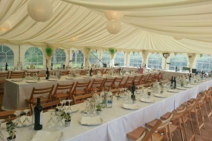 9mx18m marquee for a wedding in Sussex