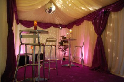 3mx6m marquee with lining, perfect for events for fewer than 20 people