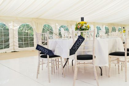Beautiful wedding marquee for a couple in Surrey
