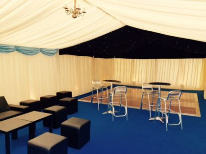 6mx12m marquee for a 50th Birthday in Surrey