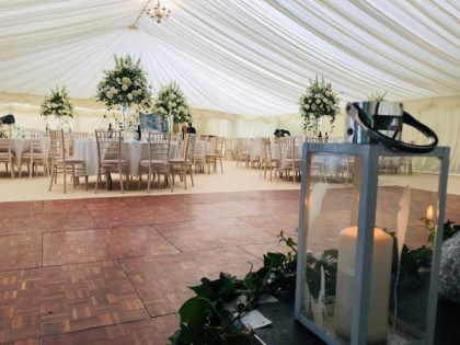 Our wooden parquet dance floor is really popular for weddings