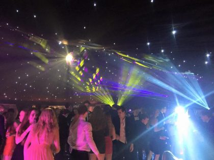 A stunning marquee provided for an 18th Birthday in Surrey